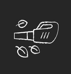 Leaf blower chalk white icon on black background vector