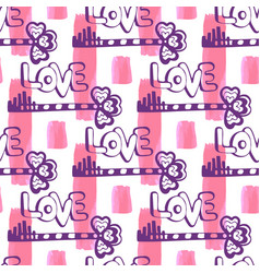 love key pattern on seamless painting texture vector image