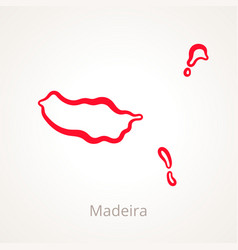 Madeira - outline map vector