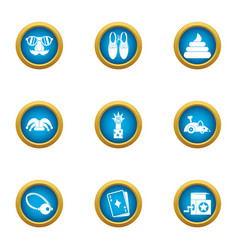 Merriment icons set flat style vector