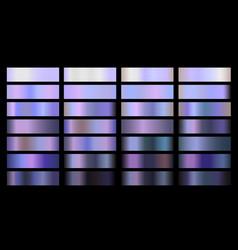 metal gradient color set neon chrome vector image