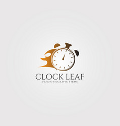 Modern clock logo template with people logo vector