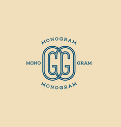 Monogram gg vector