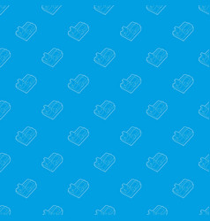 Mousetrap pattern seamless blue vector