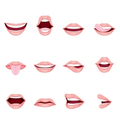 Mouth Icons Set vector