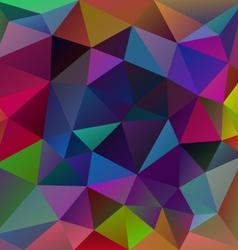 Neon multi colored polygon triangular pattern vector