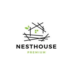 nest house logo icon vector image