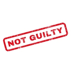 Not Guilty Rubber Stamp vector