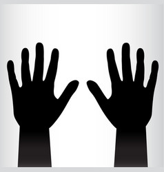 pair of black hands background vector image