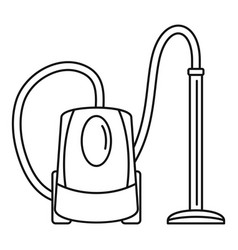 plastic vacuum cleaner icon outline style vector image