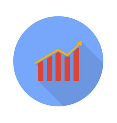 profit graph on a white background vector image