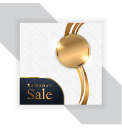 Ramadan sale banners setdiscount and best offer vector
