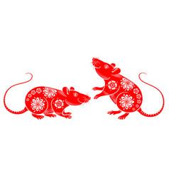 rat chinese zodiac symbol vector image