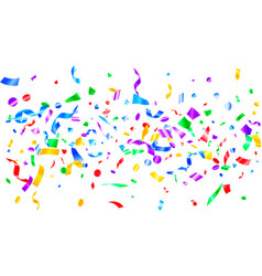 red blue green yellow glowing holiday confetti vector image
