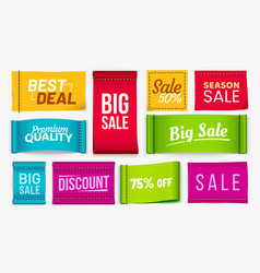 sale clothes labels discount fabric tag best vector image