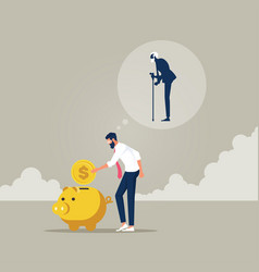 Savings money plan for retirement concept vector
