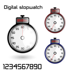 Set of 3d stop watches vector