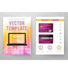 Set of abstract bright background for flyer vector image