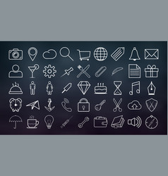 set of outline icons collection of high quality vector image