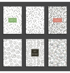 Set of retro universal card templates on white vector image