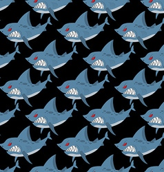 Shark seamless pattern Many angry ferocious marine vector