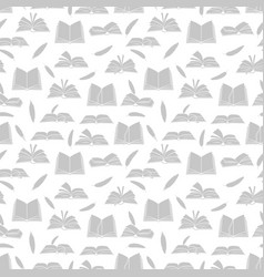 sketchbooks books diary and feathers seamless vector image
