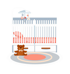 Small baby bedroom vector
