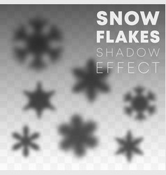 snowflakes shadow overlay effect on transparent vector image