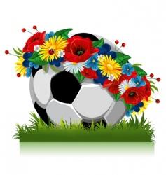 soccer ball Euro 2012 symbol vector image