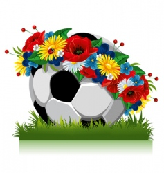Soccer ball euro symbol vector
