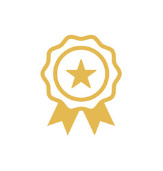 star badge icon design template vector image