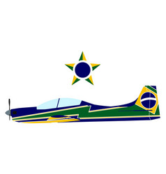 stunt plane brazilian smoke squadron vector image