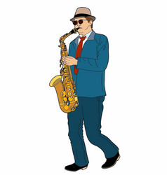 The saxophonist vector