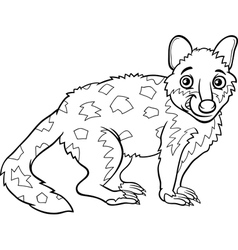 tiger quoll animal coloring book vector image