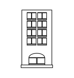 Tower building isolated vector