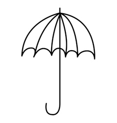 Umbrella drawing cute icon vector