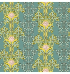Vintage seamless pattern art nouveau ornament vector image