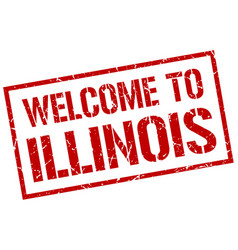 Welcome to illinois stamp vector