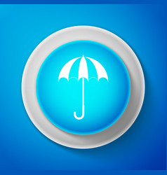 white classic elegant opened umbrella icon vector image