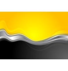 Abstract orange black background with metallic vector image vector image