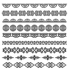 chinese decoration traditional antique korean vector image