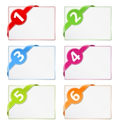 Paper cards with corner ribbons vector image