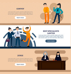 people in court horizontal banners vector image vector image