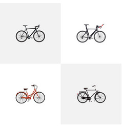 Realistic cyclocross drive training vehicle vector