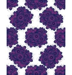 Violet flowers vector image vector image
