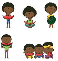 African-American boys vector image vector image
