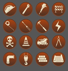 Construction Icon Set Gradient Style vector image vector image