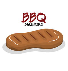 delicious meat beef bbq menu vector image