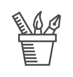 design tools line icon vector image