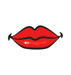 graphic kiss vector image vector image